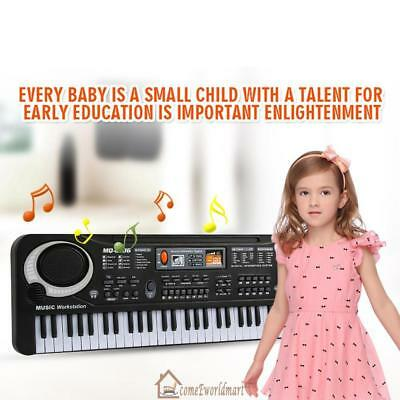 61 Kid/Child Keys Music Electronic Keyboard Electric Piano Organ W/Mic & Adapter