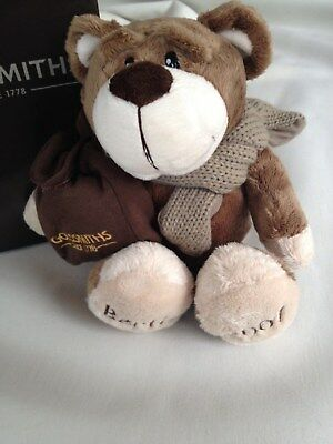 "Goldsmiths Bertie Bear 2007 with pocket for a gift 11"" - in Presentation Box"