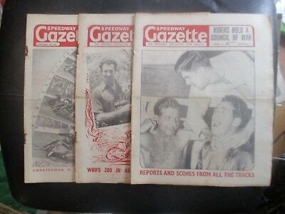 1950 Collection (1) Of 3  Of The  Speedway Gazette  Magazine