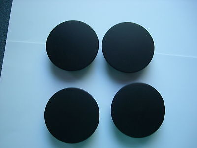 WHEEL CENTRE CAPS,( 4 ),( Black ), 55mm by 51mm,Made in the UK.
