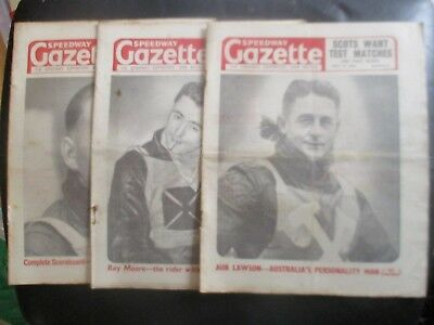 1950 Collection (2) Of 3  Of The  Speedway Gazette  Magazine