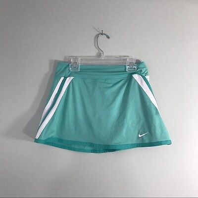 Girls Nike Dri Fit Mint Athletic Tennis Lacrosse Skort Skirt with under shorts L