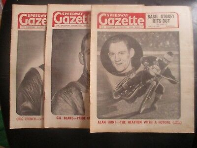 1950 Collection (3) Of 3  Of The  Speedway Gazette  Magazine