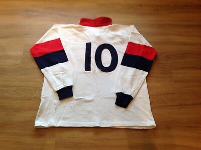 """England """"A"""" (Saxons) Match Worn And Washed Rugby Shirt. 44"""" Chest."""
