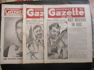 1950 Collection (4) Of 3  Of The  Speedway Gazette  Magazine