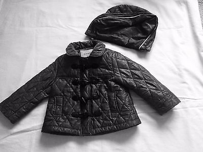 BURBERRY Baby Girls Grey Designer Quilted Jacket Size 2 Years / 92cm