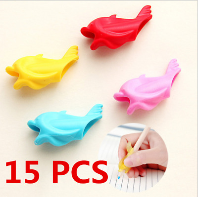 15PCS Children Pencil Holder Pen Writing Aid Grip Posture Correction Device Tool