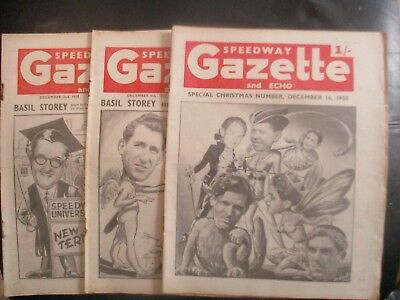 1950 December Collection (1) Of 3  Of The  Speedway Gazette And Echo  Magazine