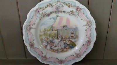 Royal Doulton Brambly Hedge The Wedding Plate   Vgc