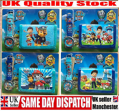 PAW PATROL Watch and Wallet Coin Purse set Boys Girls Kids Children,toys gifts