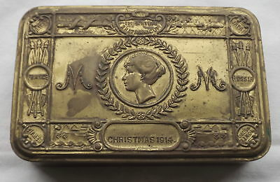 Original Wwi Princess Mary Christmas Tin (No Contents) - 1914