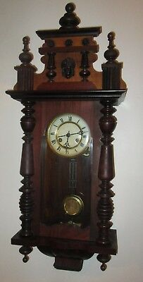 Antique Decorative German Wall Clock Vienna Black Forest Wall Clock Working