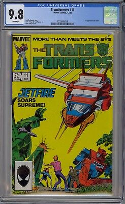 Transformers #11 CGC 9.8 NM/MT Wp 1st Jetfire Marvel Comics 1985 Herb Trimpe Art