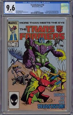 Transformers #10 CGC 9.6 NM+ Wp 1st Constructions Marvel Comics 1985 Devastator