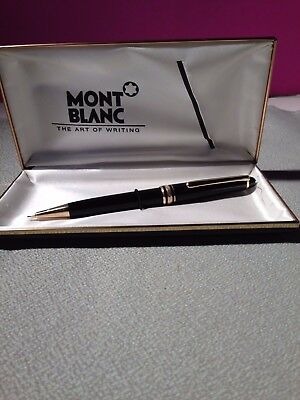 MONT BLANC Meisterstuck Mechanical Pencil 0.7mm Black/gold accents with case
