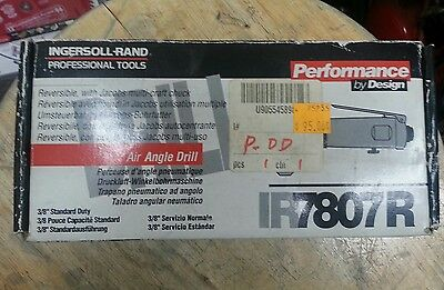 Ingersoll Rand IR7808R Reversible Angle Air Drill NEW