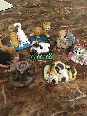 Hamilton Furr-ever my heart cat collection plus extras. Lot of 8