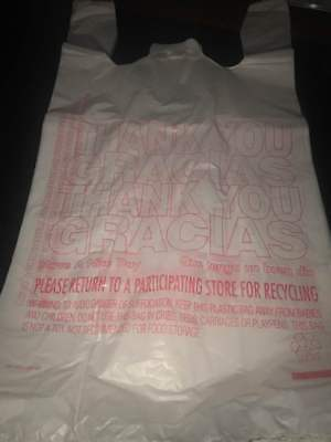 Wholesale plastic shopping bags merchandise bags retail store bags 50ct USA