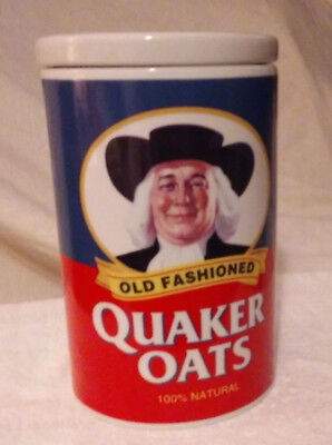 Quaker Oats 120th Anniversary Ceramic Jar Canister Dated 1997 with RECIPE