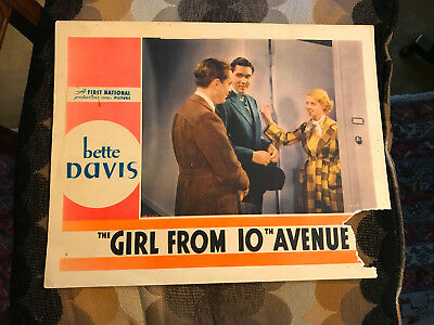 The Girl From 10th Avenue 1935 First National lobby card Bette Davis Phillip Ree