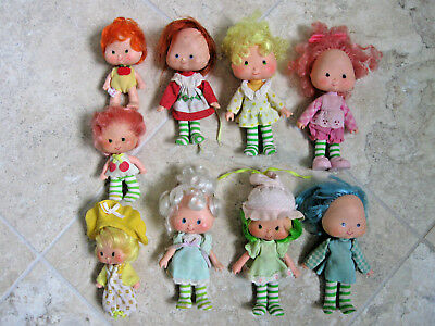 Vintage STRAWBERRY SHORTCAKE DOLLS large lot AMERICAN GREETINGS 1979 1980s TOY