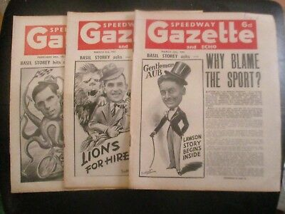 1951 Collection (5) Of 3  Of The  Speedway Gazette And Echo  Magazine