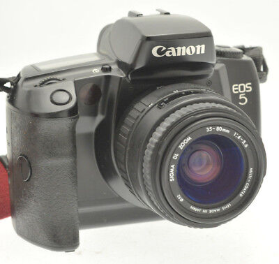 Canon EOS 5 Film Camera with Sigma 35-80mm Lens