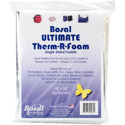 "Ultimate Therm R Foam Single Sided Fusible 18""X58"" 465"