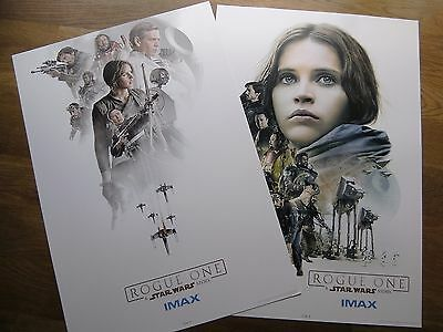 Rogue One A Star Wars Story set x2 large A3 IMAX promo art cards NEW litho print