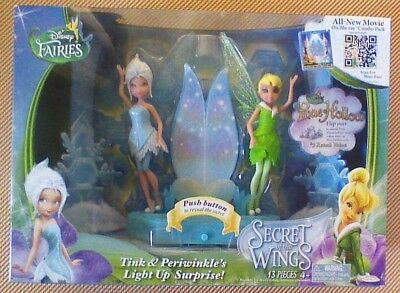 Disney Fairies TINK & PERIWINKLE'S LIGHT UP SURPRISE Secret of Wings-RARE & NEW