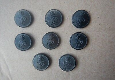 Palestine Police British Mandate Scarce Lot of 8 Pressed Horn Buttons