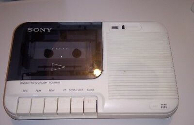 Sony TCM818 cassette recorder and dictophone in white, retro and great condition