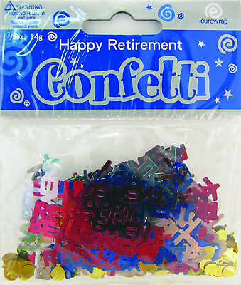 Happy Retirement | Balloons Party Confetti | Foiletti Decoration 14-84g