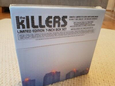 "The Killers Hot Fuss 7"" Singles Limited Edition Box Set #1142 of 5000 NEW SEALED"