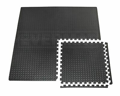 EVERMAT® 12mm Large Interlocking Gym Home Garage Anti Fatigue Floor EVA Foam Mat