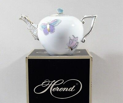 Herend Queen Victoria Royal Garden Miniature Teapot,brand New Boxed,evictp2
