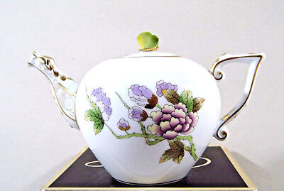 Herend Queen Victoria Royal Garden Miniature Teapot,brand New Boxed,evictf1