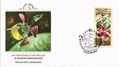 Dr Jim Stamps Space Research Key To Progress Fdc Ussr Russia Cover 1977