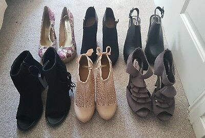 Collection of Shoes Sandals Wedges Boots Heels Court Platform Size 6/7 Brand New