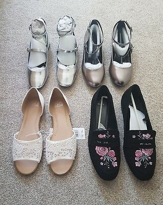 Collection of Shoes Sandals Flats Size 6/7 New Look Brand New