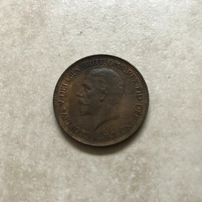 Bronze Penny 1932 Coin King George V Extremely Fine Grade