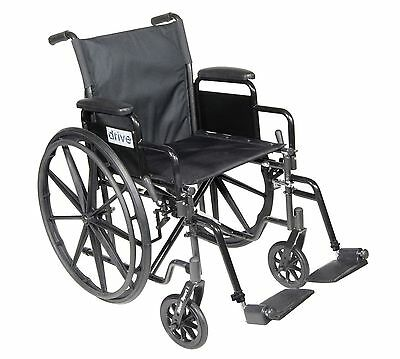 Ex-Display Heavyweight Drive Medical Steel Self Propelled Wheelchair