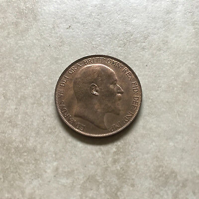 Bronze Penny 1907 Coin King Edward Vii Uncirculated With Lustre