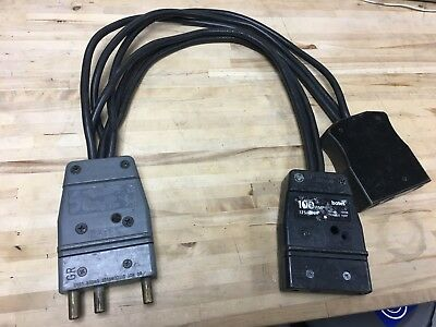 100A Stage Pin To (2) 100A Splitter