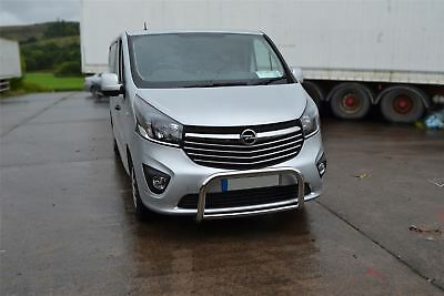 Renault Trafic 2014+ Low Nudge Bull Grill Abar S/Steel