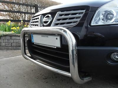 To Fit Nissan Qashqai 2007 - 2014 Front Grill S/S Low Bull Bar A Bar Bullbar