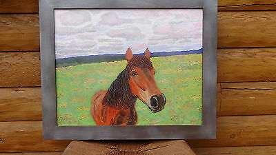 "Gorgeous Horse named ""Wildflowers"" (16"" x 20"") Painting by Artist (Framed)"