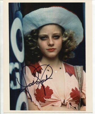 JODIE FOSTER autograph HAND SIGNED 5342