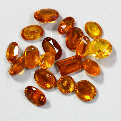 8.10 Cts_Amazing Wholesale~Fanta Color_100 % Natural Mandarin Spessartite Garnet