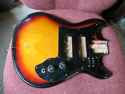 VINTAGE 1960's TEISCO JAPAN ELECTRIC GUITAR BODY PROJECT.